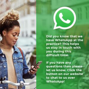 Our dental clinic now has WhatsApp