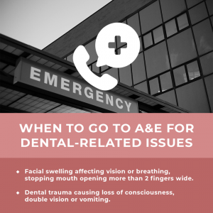 When to go to A&E for dental related issues during Covid-19