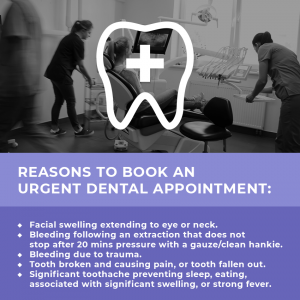 Reasons to book an urgent dental appointment during the Coronavirus