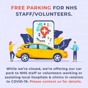 Free parking for NHS staff/volunteers